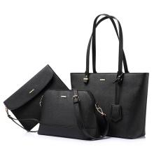 Luxury Top Branded Colorful Lady Shoulder Crossbody Hand Bag Women's 3 Piece PU Leather Purses Handbags