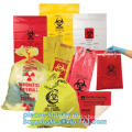 Medical consumables biohazard waste disposal supplies, LDPE plastic medical autoclave bags, Biohazard waste disposal bag