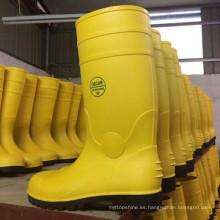 China fábrica de PVC lluvia trabajo de seguridad botas