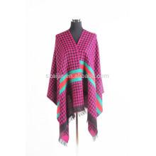 Fashion ladies plaid winter fake pashmna shawls