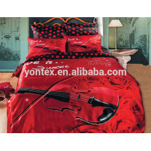 100%Microfiber Cotton Bed Sheets for Wedding
