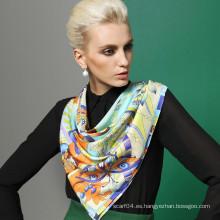 Venta al por mayor 2015 nuevo 100% seda bufanda de moda de la señora
