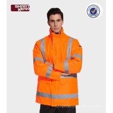 Olá! Workwear acolchoado workwear da construção dos uniformes da segurança do vis com fita reflexiva
