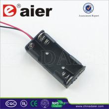 Daier 3v aaa soporte de batería con cable 2 aaa soporte de batería
