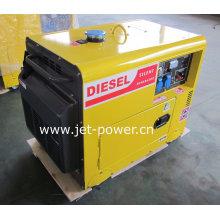 Motor diesel silencioso portátil do gerador 188f, diesel 7kVA silencioso
