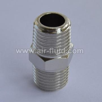 Brass Hex Male BSP/BSP Nipple Adaptor
