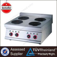 Placa de acero caliente comercial caliente K017 de la placa de acero comercial de 4 quemadores