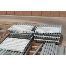 Tuyau en acier galvanisé pour la maison verte