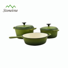color enamel cast iron casserole with lid and ears