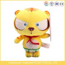 ICTI audita el juguete del tigre de la felpa de la venta del juguete de la fábrica de OEM / ODM con la bufanda roja