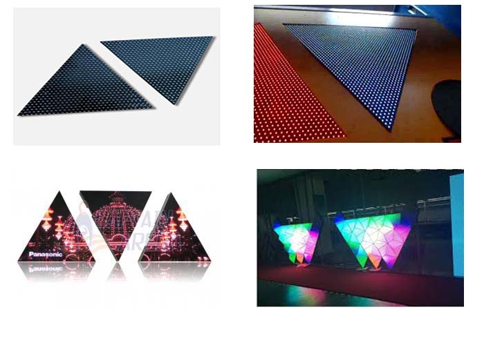 Customizable creative triangle screen