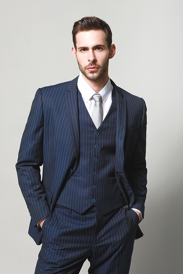 MEN'S THREE SET SUITS WITH WOOL TOUCH
