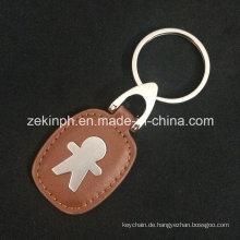 Werbeartikel Großhandel benutzerdefinierte PU Leder Schlüsselanhänger