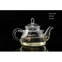 Borosilicate Gourd Shape Glass Pot with Stainless Steel Insert Spout, 250cc