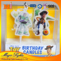 Eco-friendly no dripping wax animated birthday candles