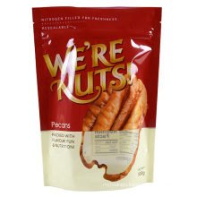 Digital Printing Resealable Clear Windows Stand Up Pouch Ziplcok Plastic Packaging Bags For Nut
