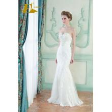ED Bridal New Product Sexy Sleeveless Beads Lace Appliqued Customized Mermaid Wedding Dress 2017