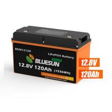 Bluesun Hot Sale Lifepo4 Battery 12V 120Ah Deep Cycle Battery 12.8V 200Ah Lithium Battery With UN38.3