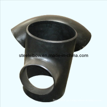 Solda ANSI Asme Bw encaixe de tubulação de aço carbono sem costura