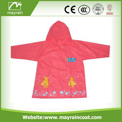 Hood PVC Raincoat with pocket