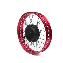 72v5kw QS motor 20-26inch red wheel fat tire electric bike  kit 5000w electric fat tire bike conversion kit for folding ebike