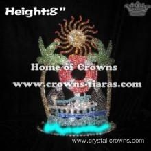 8in Height Crystal Summer Pageant Crowns