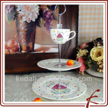 2 стл. Подставка для керамического пирога с чашкой