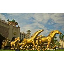 Projeto Popular Golden Horse Statue com 15 anos de Fundição