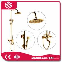 ensemble de douche de haute qualité d'économie d'eau d'or
