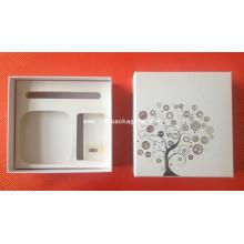Caixa de papel de embalagem de presente high end com espuma de EVA