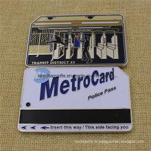 Vente chaude nous Nypd Metro carte pièce avec émail doux