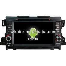 Reproductor de DVD del coche Android System para Mazda CX-5 con GPS, Bluetooth, 3G, iPod, juegos, zona dual, control del volante