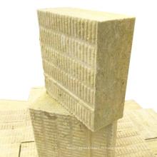 Panneau isolant en laine de roche pour mur extérieur