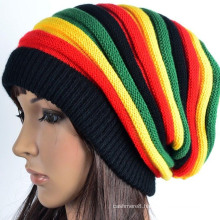 Womens Mens Unisex Knitted Colorful Fancy Rainbow Stripes Hat Beanie (HW126)