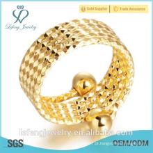 Mão feito tamanho ajustável ouro amarelo acoplado anéis chapeados