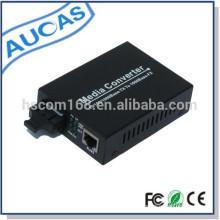 10/100 / 1000M fibre optique à rf convertisseur de média / convertisseur de conversion fibre optique à rj45 media converter / media converter