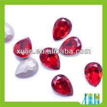 High quality rhinestones teardrop fancy stones for garment10*14mm