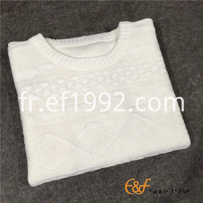 plain cable knitted sweater for women