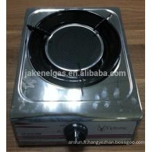 cuisinière à gaz tabel infrarouge à brûleur unique en acier inoxydable, cuisinière à gaz