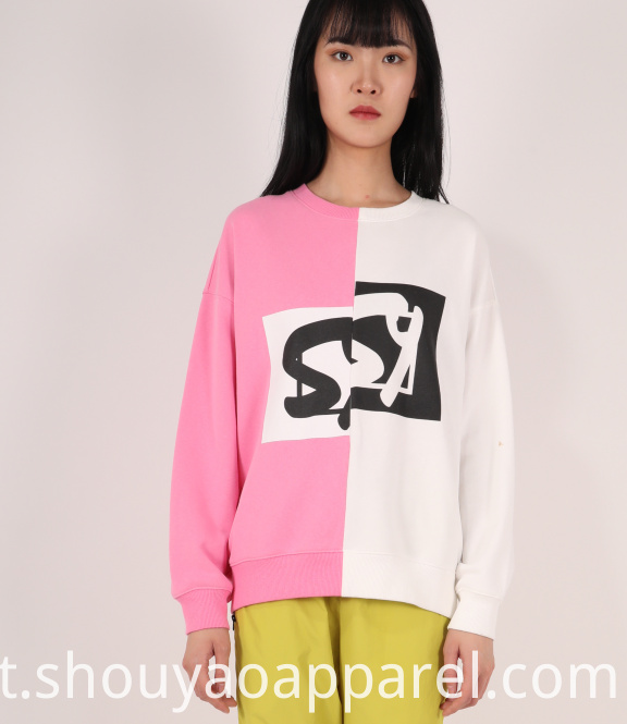 LADIES COMBINED SWEATSHIRT WITH LONG SLEEVES