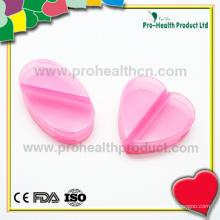 Boîte à pilules en forme de coeur de 2 compartiments