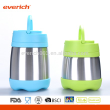 Custom 8OZ BPA al por mayor libera S / S contenedor de alimentos con mango de plástico