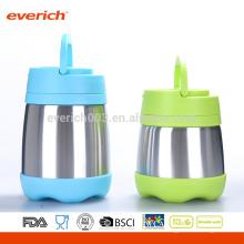 Custom 8OZ Оптовый BPA Free S / S Контейнер для пищевых продуктов с пластиковой ручкой