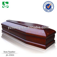 Meilleures couleurs de memorial en acajou de qualité du cercueil de cercueil