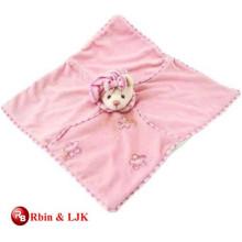 custom promotional lovely plush animal blanket