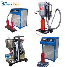 Máquina de recarga de extintor manual de pó seco abc