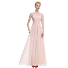 Starzz Sleeveless Light Pink Chiffon Long Bridesmaid Dress ST000060-3