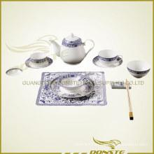 Chines Stained Ceramic Blue Encantamiento Set