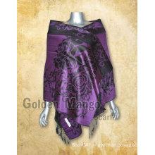 Viscose pashmina scarf shawl with jaquard design
