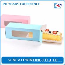 Бумажная коробка упаковки Sencai торт ablong